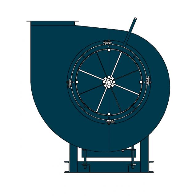 Вентилятор дутьевой центробежный для коррозионных сред ВДН-5НЖ